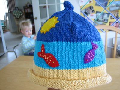 Twin hat, adorned.