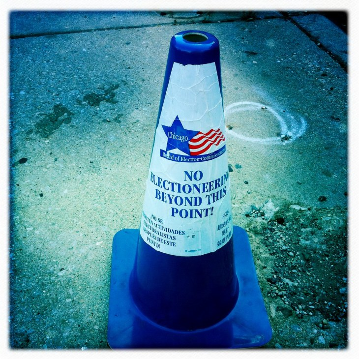 No electioneering beyond this point