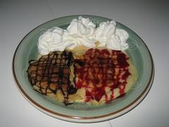 Tortitas con nata