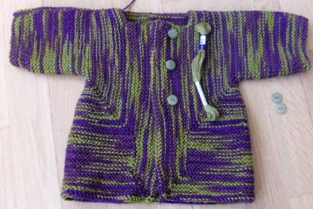 Baby surprise jacket nearly finished