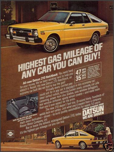 1979 Datsun 210 Ad