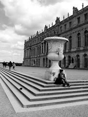 Château de Versailles凡爾賽貧窮旅客之剛吃完麵包休息中