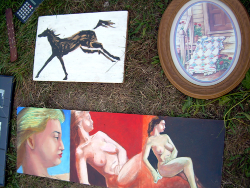 Bad art at yardsale