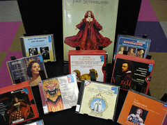 Dame Joan Sutherland display