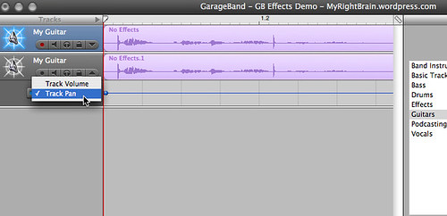 iLife GarageBand '06 - creating a stereo effect (A2-1)