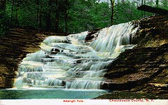 Postcard Arkwright Falls