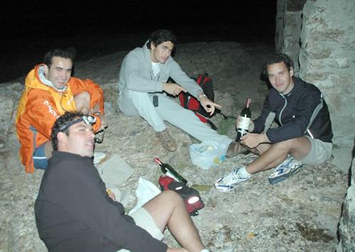 Cena en el refugio de Zabala