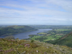 Bassenthwaite and Scotland from the top of Dodd