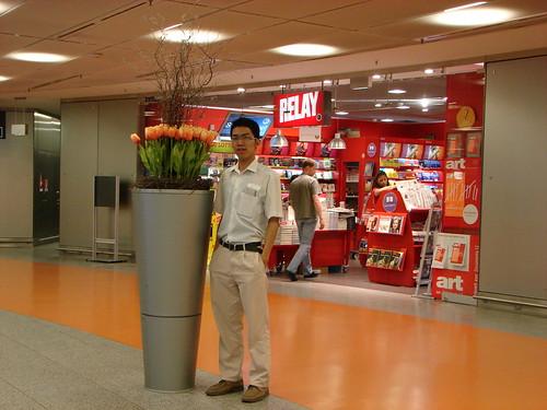 In frankfurt airport,