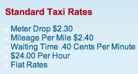 Buffalo Taxi rates