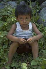Child among the rocks