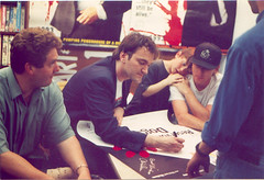 Chris Penn, Quentin Tarantino, and Tim Roth (w...