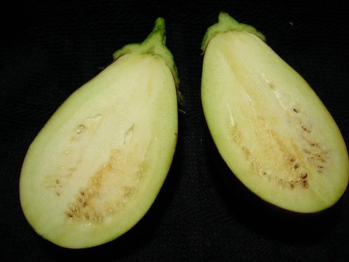 Cut Side Up of Eggplant