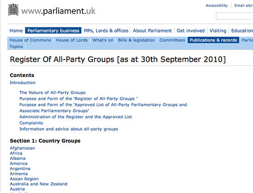 All party groups - directory