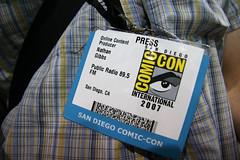 Comic-Con Press Badge