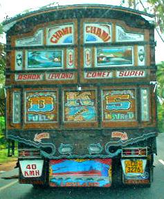 Painted truck - near Bentota, on road to Galle, Sri Lanka