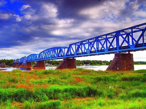 railway bridge sweden - finland