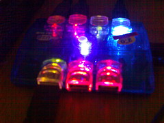 7-Port USB Hubs with Multi-Coloured Lights in dark