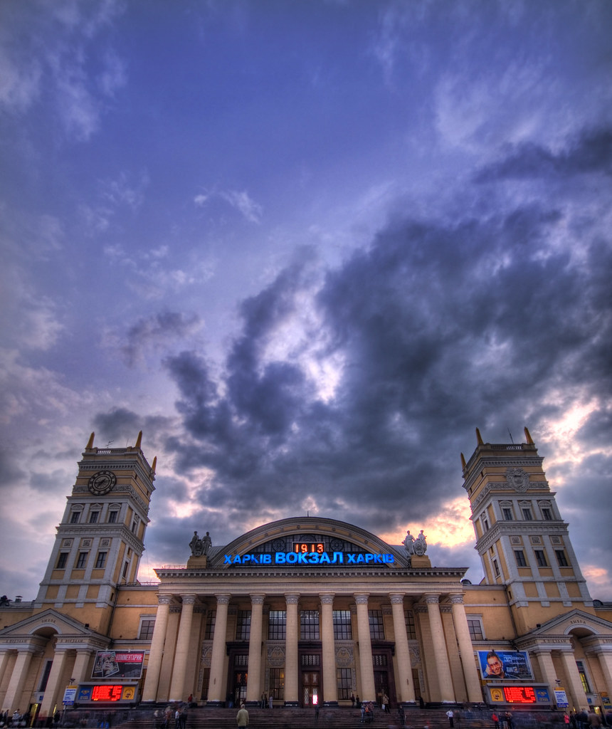 Sunset at the Kharkov Train Station