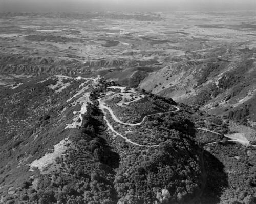 Looking over Orange County from Santiago Peak, 12-23-1974