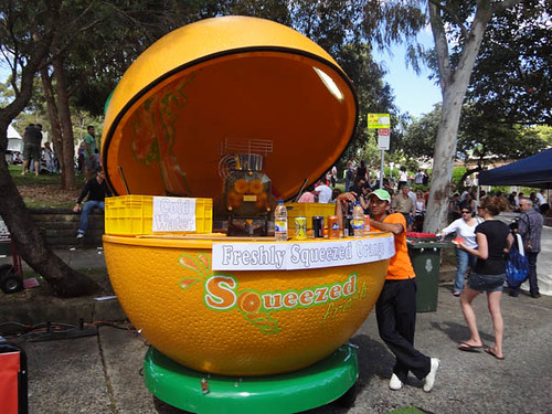 Norton Street Italian Festa: Freshly squeezed orange juice