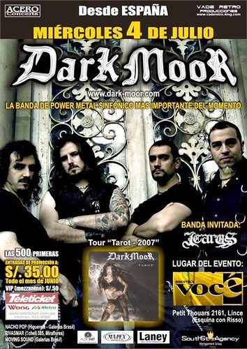 Afiche concierto dark moor