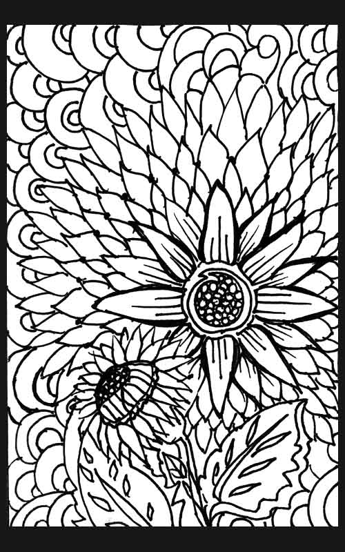 flower pflower patterns colouring pages