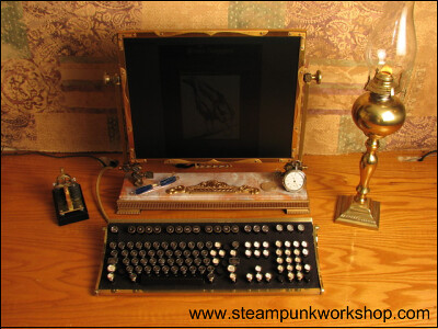 steampunk style computer mood