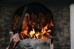 Roast Duck in the Fire at Li Qun