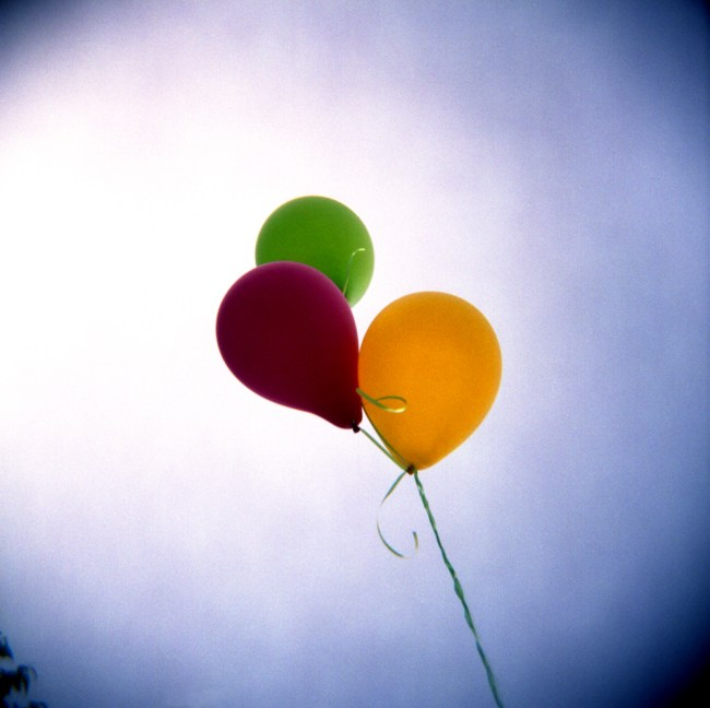 Balloons against sky
