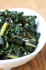 Sauteed Kale with Garlic and Sherry Vinegar