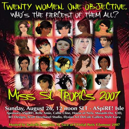 Miss SL Tropics 2007 poster