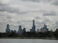 Vista de la cuiutat des d'Albert Park