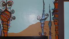 Bedroom wall at Hotel des Arts, San Francisco
