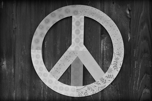 Peace black and white