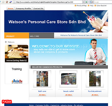 Watson's Personal Care Store website screenshot