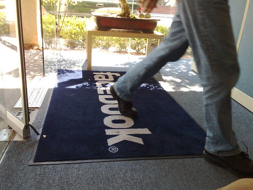 Facebook mat on 151 University