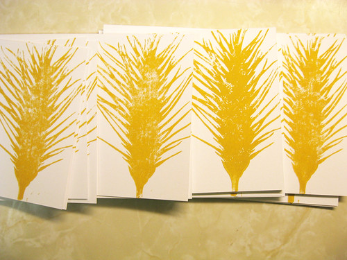 Wheat cards.
