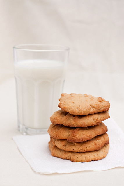 Peanut Butter Cookies with Milk