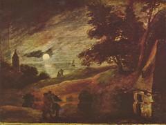 Brouwer, Adriaan (1605-1638)  - Moonlit landscape  - s.d.