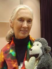 Jane Goodall - Photo taken by user:Jeek in w:Hong Kong University, Hong Kong on 24 October 2004