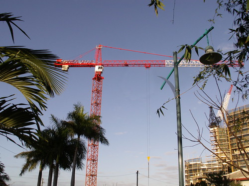 A crane and...