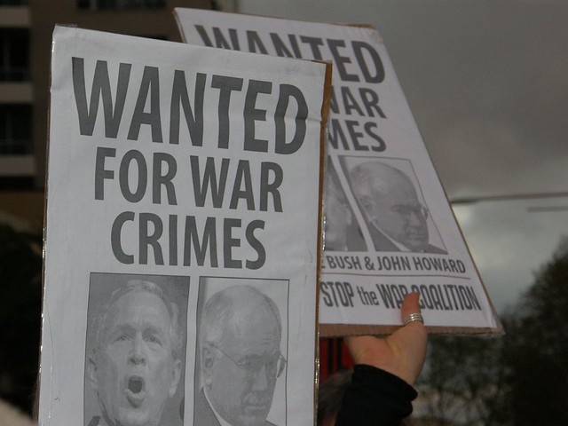 Wanted for War Crimes. Photo by: Benjamin Solah