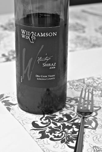 Williamson Wines Heritage Shiraz 2006