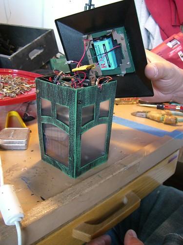 assembling a lamp