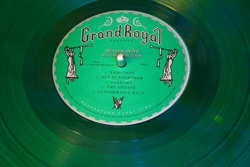 Green vinyl by Sandy Whitesides, found via the Flickr Free Use Photos pool