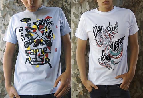 Partikulegrafik t-shirts