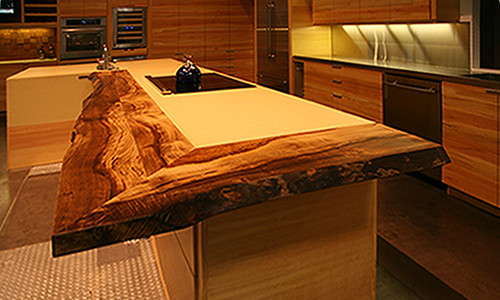 ultimate kitchen live edge countertops of reclaimed myrtle wood