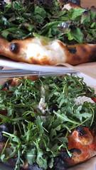 Popeye (top) & Stracciatella (bottom) Pizzas - Co