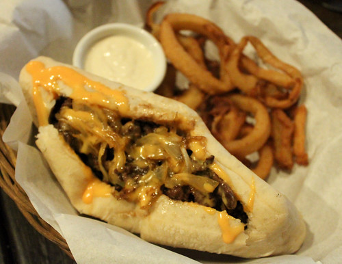 Pat and Geno's Sandwich (Philly Cheese Steak) at Goodfellas Steaks and Burgers